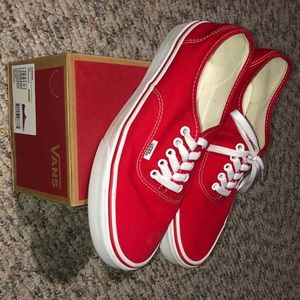 Red authentic vans